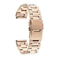 Zwart / roze / Goud / Zilver Roestvast staal / Metaal Klassieke gesp / Moderne gesp Voor Samsung Galaxy Horloge 20mm