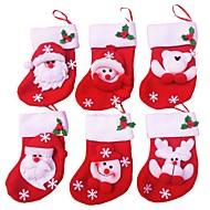 mutlu noeller çorap 6pcs / lot ev Noel Baba hediye yılbaşı süsleri dekorasyon için noel dekorasyon