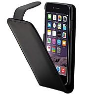 Para Capinha iPhone 7 / Capinha iPhone 6 / Capinha iPhone 5 Porta-Cartão / Flip Capinha Corpo Inteiro Capinha Cor Única Rígida Couro PU