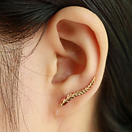 Earring Leaf Ear Cuffs Jewelry Women Daily / Casual Alloy 1 pair Gold / Silver