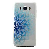 Dla samsung galaxy j5 j3 (2016) pokrowiec na niebieską pół kwiatów wzór malowany tpu materiał telefonu przypadku