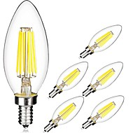 KWB 6PCS 6W E14 LED Filament Bulbs C35 6 COB 560 lm Cool White/warm white(220-240V)