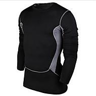 エクササイズ&フィットネス / レジャースポーツ / バドミントン / バスケットボール / ランニング-コンプレッションウェア(ブラック) -男性用-高通気性 / 速乾性