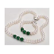 Damskie Pearl Strands Perłowy Agat Klasyczny Biżuteria Na Ślub Impreza