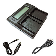 ismartdigi EL3e lcd double chargeur avec câble de charge de voiture pour nikon d90 d80 d300s d300 d700 d200 ENEL3E batterys de caméra