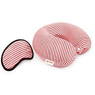 Travel Eye Mask / Sleep Mask Travel Pillow for Kid's Unisex Travel Rest Fabric-Purple Coffee Green Blue Blushing Pink
