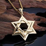 Ανδρικά Κρεμαστά Κολιέ Star Shape Ανοξείδωτο Ατσάλι 18K χρυσό Μοντέρνα Εξατομικευόμενο Ευρωπαϊκό Κοσμήματα Για Πάρτι Καθημερινά Causal