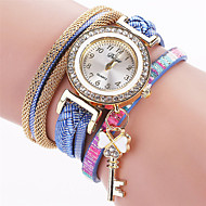 Xu™ 아가씨들 패션 시계 손목 시계 석영 PU 밴드 빈티지 캐쥬얼 블랙 화이트 블루 레드 브라운 핑크