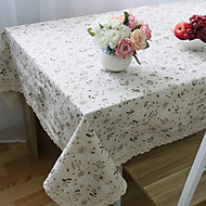 Rektangulär Blommig Dukar , Linne/Bomull blend MaterialHotell Matbord Bröllopsfest dekoration Bröllop Bankett Juldekor favör Tabell