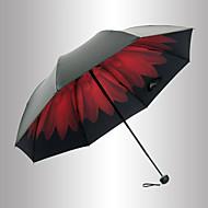 레드 / 블랙 접는 우산 양산 Plastic 유모차
