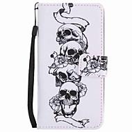 Voor lg k10 k7 hoesje hoesje schedel geverfd lanyard pu telefoon hoesje voor Nexus 5x lss775 xpower