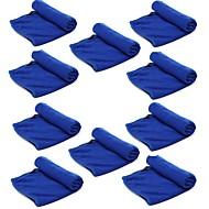 ziqiao sacco microfibra strumenti 10 pc / pulizia Autolavaggio panno asciugamano prodotti di polvere (30 * 70cm)