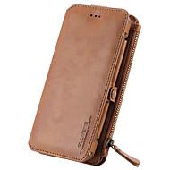 ל ארנק / מחזיק כרטיסים / עם מעמד מגן גוף מלא מגן צבע אחיד קשיח עור אמיתי ל Samsung Note 5 / Note 4 / Note 3