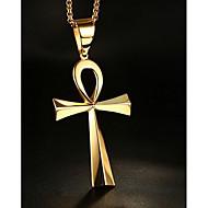 Homens Feminino Casal Colares com Pendentes Jóias Formato de Cruz Aço Inoxidável Pingente bijuterias Jóias Para Diário