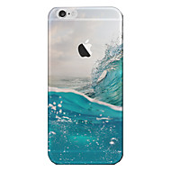 Translucent Case Back Cover Case Sea Wave Scenery Soft TPU for Apple iPhone 7 Plus / iPhone 7 / iPhone 6s/6 Plus / iPhone 5 5S