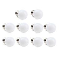 1W E26/E27 Lampadine globo LED 12 SMD 3528 30 lm Bianco caldo / Luce fredda AC 220-240 V 10 pezzi