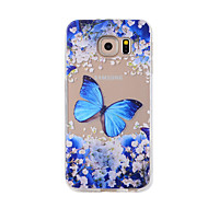 For Samsung Galaxy NOTE 5 NOTE 4  NOTE 3 Case Cover Blue Butterfly  Painted Pattern TPU Material Phone Case