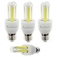 YouOKLight 4PCS E27 3W 210lm 6000K 4-COB LED White Light Corn Lamp(AC85-265V)