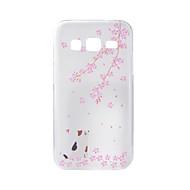Til samsung galaxy j7 j5 cover kirsebær katte malet mønster tpu materiale telefon taske