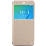 のために ウィンドウ付き / オートオン/オフ / フリップ / つや消し ケース フルボディー ケース ソリッドカラー ハード PUレザー のために Huawei Huawei Honor 8 / Huawei Honor V8