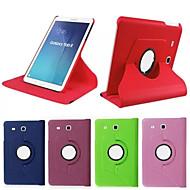 Pour Samsung Galaxy Coque Avec Support Clapet Rotation 360° Coque Coque Intégrale Coque Couleur Pleine Cuir PU pour SamsungTab 4 10.1 Tab