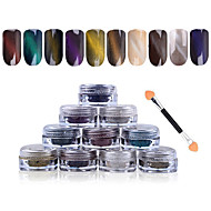 New 1g/box 3D Effect Cat Eye Magnet Magic Mirror Powder Dust UV Gel Polish Nail Art Glitter Pigment DIY Manicure Tools