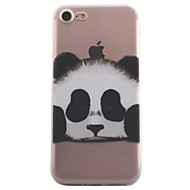 For iPhone 7 7 Plus 6S 6 Plus SE 5S Case Cover Panda Pattern High Permeability Painting TPU Material Phone Case