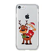 Para Transparente / Estampada Capinha Capa Traseira Capinha Natal Macia TPU para AppleiPhone 7 Plus / iPhone 7 / iPhone 6s Plus/6 Plus /