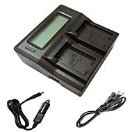 ismartdigi FW50 LCD dual laturi auton latausjohto Sony A5000 a5100 a7r nex6 7 5TL 5h 5n 3NL c3 kamera batterys
