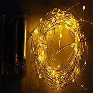 2m 10led 3aa elemes vízálló dekorációs led rézdrót fények húr karácsonyi fesztivál lakodalom