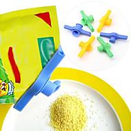 verzegelen ronde mond plastic voedsel clips (willekeurige kleur)