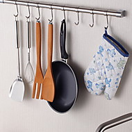 ChuYuWuXian® Stainless Steel Kitchen 24Inch Hanging Rod with 8 Hooks