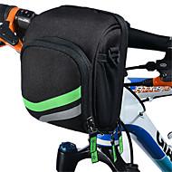 自転車用バッグ自転車用フロントバッグ 防水 防水ファスナー 耐衝撃性 耐久性 タッチスクリーン 高通気性 ヘッドセット 自転車用バッグ ナイロン サイクリングバッグ キャンピング&ハイキング 乗馬 15*15*5