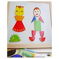 Jigsaw Puzzles Educational Toy Jigsaw Puzzle Building Blocks DIY Toys Square 1 Wood Rainbow Leisure Hobby