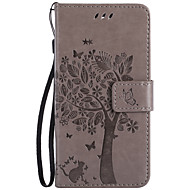 For Nokia Lumia 650 950 640 435 635 550 PU Leather Material Cat and Tree Pattern Butterfly Phone Case