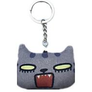 Key Chain Cat Key Chain Gray Cotton