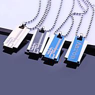 Presente de aço inoxidável personalizado de jóias três camadas, gravados Pingente Colar com 60 centímetros Cadeia