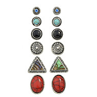 Női Beszúrós fülbevalók Fülbevaló Európai Személyre szabott Régies (Vintage) jelmez ékszerek Ötvözet Circle Shape Triangle Shape Ékszerek
