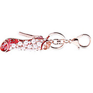 Key Chain Crystal Shoes Key Chain / Gleam Red Metal
