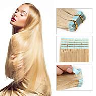 인간의 머리카락 확장 002에 30-50g / 팩 16-24inch 브라질 테이프 인간의 머리카락 확장 # 24 테이프