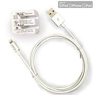 아이폰 6 아이 패드 아이팟에 대한 UL 인증 여행 벽 전하 1A / 2.1A 이중 출력 + 사과 MFI 인증 번개 라운드 케이블