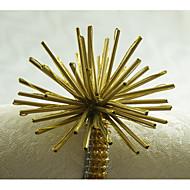 Rectângular Padrão / Geométrico / Feriado Anel de Guardanapo , Liga MaterialWedding Party Decoration / Banquete de Casamento Jantar /