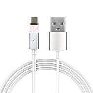 Type C Magnetisch Kabel Voor Samsung / Huawei / HTC / LG / Xiaomi 100 cm PVC / Aluminium