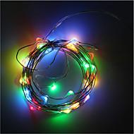 3AA 배터리 전원 5m 50 led 스트립 구리 와이어 크리스마스 배터리 상자 장식 휴일 조명 문자열 조명 LED 조명