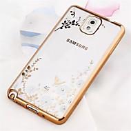 For Samsung Galaxy Note Belægning Transparent Mønster Etui Bagcover Etui Blomst TPU for Samsung Note 5 Note 4 Note 3