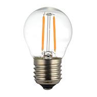 2W E14 E26/E27/B22 LED Filament Bulbs G45 2 SMD 2835 200 lm Warm White Cool White Decorative AC110 AC220 V 1 pcs