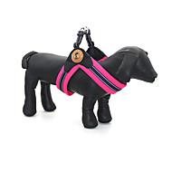 犬用品 ハーネス 反射 調整可能/引き込み式 純色 グリーン ブルー ローズピンク クロス