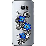 Para Ultra-Fina Transparente Estampada Capinha Capa Traseira Capinha Flor Macia TPU para Samsung S7 edge S7 S6 edge plus S6 edge S6