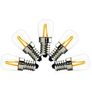 2W E14 Lâmpadas de Filamento de LED ST21 2 COB 200 lm Branco Quente Regulável Decorativa AC 220-240 V 5 pçs