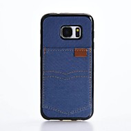 Na Etui na karty Odporne na wstrząsy Kılıf Etui na tył Kılıf Jeden kolor Miękkie Włókna na Samsung S7 edge S7